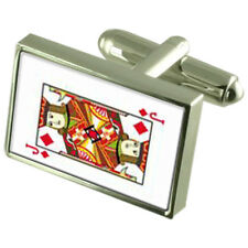 Diamond Playing Card Jack Sterling Silver 925 Cufflinks Boxed