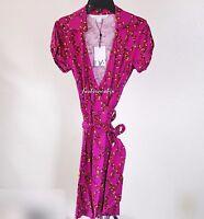 63% OFF~NWT Diane von Furstenberg~DVF Jilda 2 Jersey Silk Blend Wrap Dress~ sz10