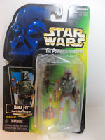 1997 Star Wars Power of The Force Boba Fett Bounty Hunter on Opened Card COMPLET