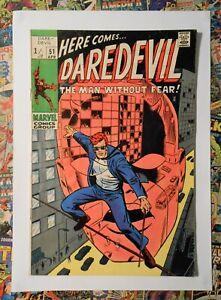 DAREDEVIL #51 - APR 1969 - STARR SAXON APPEARANCE - FN+ (6.5) PENCE COPY!