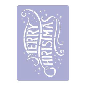 reusable PLASTIC Window Christmas STENCIL 30x42 - 65x95cm Merry Christmas Xmas