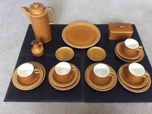 Vintage Retro 1970's Hornsea Saffron 21 Piece Tea Service