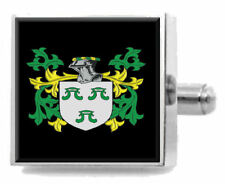 Hawker England Family Crest Surname Coat Of Arms Tie Clip Engraved In Pouch