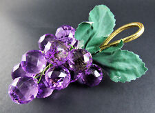 New listing Set of 8 Gorgeous Faceted Acrylic Lucite Purple Grape Cluster Napkin Rings (E67