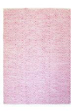 Motif à vagues Tapis fait main 100% laine Tapis tissé à la main rose 80x150cm
