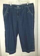 Faded Glory Woman Capri Jeans-20W  Excellent comfy styling!