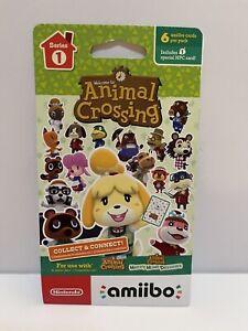Nintendo Animal Crossing Amiibo (Series 1) Character Cards Pack Unopened - New