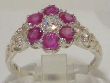 Diamond Cluster Round White Gold Fine Gemstone Rings