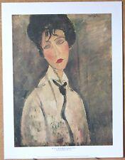"""Woman with Black Cravat"" - Amedeo Modigliani - Genuine Litho Print"