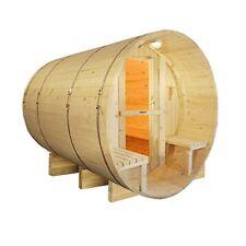 ALEKO 8 Prs White Finland Pine Barrel Sauna ETL Electrical Heater