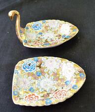 50s ARDALT China Japan Lawine Porcelain SWAN Shape Set 2 Pieces Ashtray #6475A