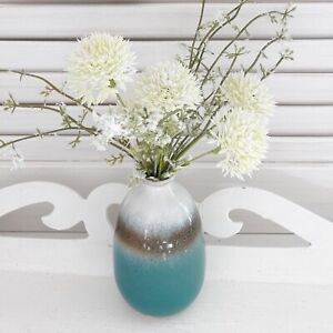 Turquoise Ombre Mini Bud Vase Flower Pot Planter Scandi Boho Home decoration