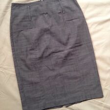 Tracy Evans Limited Women Junior Gray Pencil Skirt Size 3 High Waist Knee Length