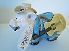 Pig Tales piggy bank #489574 classy cow pig labeled Giftcraft harmonica/guitar
