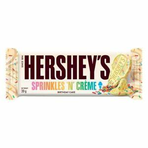 Hershey's Sprinkles 'N' Creme Birthday Cake Bar 39g Full case of 24 Bars