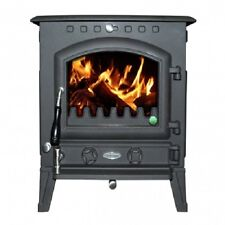 New Heritage Blackrock 10kw Wood Log Burner Stove Room Heater Matt Black