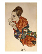 Schiele - Marga Boerna portrait fine art giclee print poster various sizes