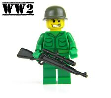 US Army WW2 minifigure Soldier made with real LEGO® Sniper