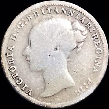 1877 Great Britain 3p Three Pence KM #730 Foreign Silver Coin Queen Victoria