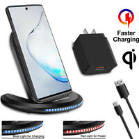 For Samsung Galaxy S20 +Ultra Note 10 5G Qi Wireless Fast Charger Charging Stand