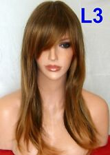 Brown Ombre Wig Women Wig Long Curly Cheap Natural LOOK Ladies Hair Wig L3