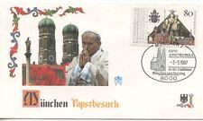 ENVELOPPE VISITE DU PAPE JEAN PAUL II / POSTE VATICANE 1987 ALLEMAGNE GERMANY