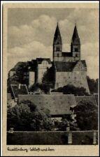 QUEDLINBURG AK ~1940 Häuser Partie am Schloss Dom