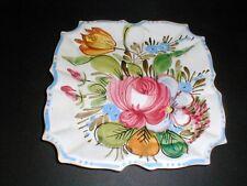 Italian Pottery NOVE ROSE Hand Painted Square Salad/Dessert Plate/s (loc-X15)