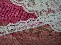 """8 Yards White Floral Narrow Scalloped Lace Trim 1/2"""" W.#L1-9 SHIP FROM USA"""