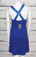 ARMANI EXCHANGE~NWT~COBALT *CRISS-CROSS STRAPPY* OPEN-BACK~KNIT SUMMER DRESS~L