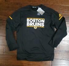 ADIDAS MENS NHL BOSTON BRUINS SQUAD CREW PULLOVER SWEATSHIRT Size Medium...