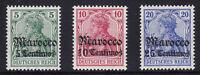 DR Marokko 35 - 37 ** postfrisch Deutsche Auslandspostämter Michel 96,00 € MNH