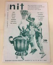 1964 27th Annual  NIT Basketball Program Madison Square Garden