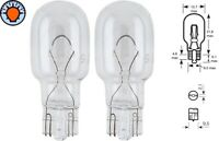 2x 12V 21W T15 W2.1 x9.5d GLASSOCKEL WEDGE AUTO BIRNE GLÜHBIRNE RÜCKLICHT LAMP