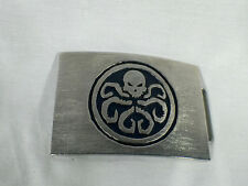 Captain America, Red Skull Hydra Belt Buckle, Metal, With Real Leather Belt