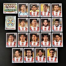 Panini FIFA World Cup South Africa 2010 Complete Team Paraguay + Foil Badge