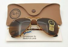 Vintage B&L Ray Ban Bausch & Lomb B15 Brown Tortuga 58mm Aviator w/Case