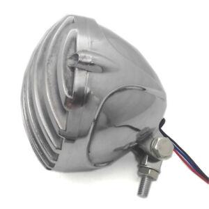 Chrome Polished Scalloped Finned Grill Headlight For Honda Bobber Chopper Custom