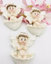 24pcs BAPTISM PARTY FAVORS CERAMIC FIGURES  RECUERDOS De BAUTIZO NINA NIÑO