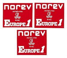 1 Autocollant NOREV miniatures avec  EUROPE 1 concour miniJET JET-car MaxiJET 70