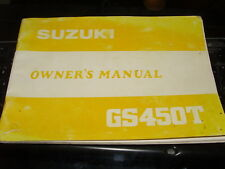 Suzuki Owners Manual 1980-1981 GS450 T GS450T 99011-44320-03A