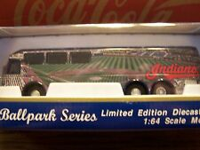 Cleveland Indians, MLB 2001 Ballpark Series Motorcoach, White Rose Collectibles