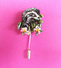 Porcelain Flowers/Plants Costume Brooches & Pins