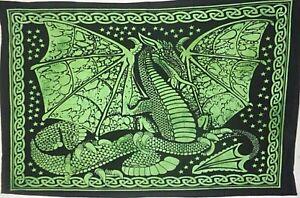 Wall tapestry Yoga Mat Throw Bohemian Dragon Textile Indian Mandala Hanging Art