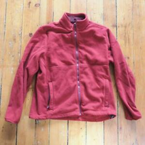 Mens Lands' End Red Full Zip Outdoor Jacket Polartec Fleece Size L 42-44