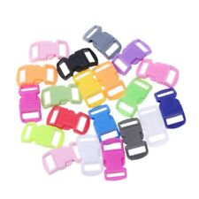 20Pc Colored Curved Side Release Plastic Buckles For Umbrella Paracord Bracelet