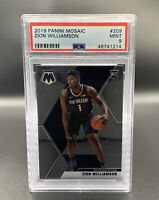 Zion Williamson *PSA 9* RC 2019 Panini Mosaic #209 New Orleans Pelicans NBA