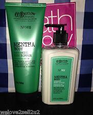 Bath & Body Works CO Bigelow Mentha Vitamin Lotion Smoothing Buffer Scrub Soap