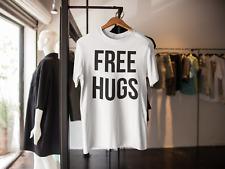 FREE HUGS T-SHIRT FUNNY NOVELTY GIFT PRESENT BOYFRIEND GIRLFRIEND