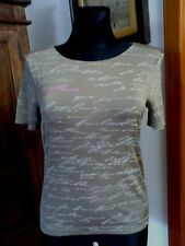 Wolford Light Beige Short Sleeve Top Size M